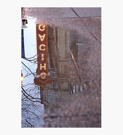 Chicago Theatre in a Puddle Photographic Print
