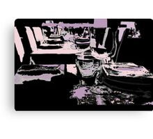 Come dine with me Canvas Print