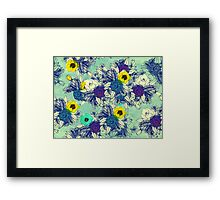 Botanical Blues ligth Framed Print
