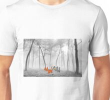 Two Cats Have Fun In The Winter Unisex T-Shirt