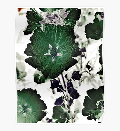 Floral Green Poster