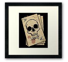 Unlucky Ace Of Spades Skull Card Framed Print