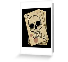 Unlucky Ace Of Spades Skull Card Greeting Card