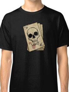 Unlucky Ace Of Spades Skull Card Classic T-Shirt