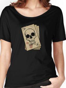 Unlucky Ace Of Spades Skull Card Women's Relaxed Fit T-Shirt