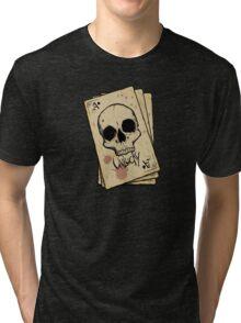 Unlucky Ace Of Spades Skull Card Tri-blend T-Shirt