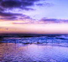 Bogey Hole Panaroma - Newcastle Australia by Brad Woodman