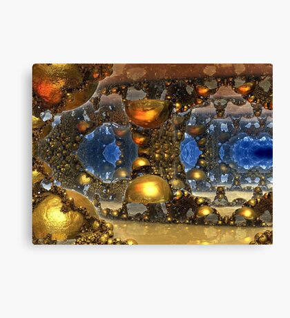 Caves Of Gold Canvas Print