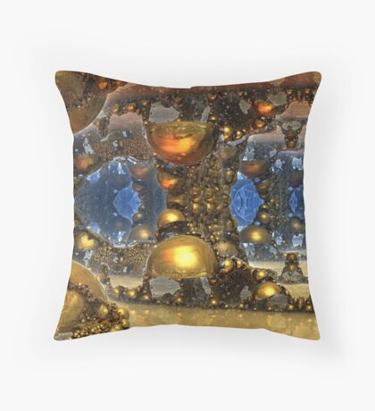 Caves Of Gold Throw Pillow