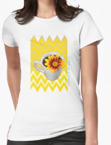 My morning cup of sunshine Womens Fitted T-Shirt