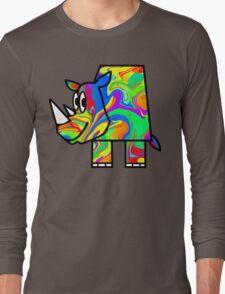 Colorful Rhino 2 Long Sleeve T-Shirt