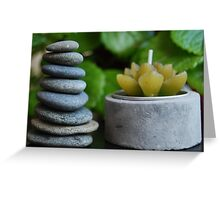 Beach stone stack Zen image Greeting Card