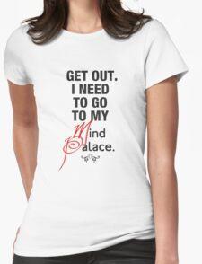 Sherlock quote se2 typography  Womens Fitted T-Shirt