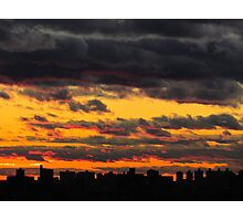 Sunset silhouette in New York City  Photographic Print