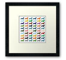 Dachshunds pattern Framed Print