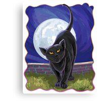 Animal Parade Black Cat Canvas Print
