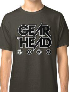 Gear Head (White Outline) Classic T-Shirt