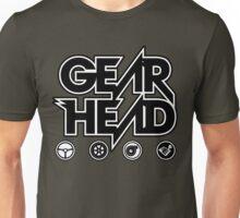 Gear Head (White Outline) Unisex T-Shirt