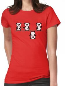 Another perspective for the panda Womens Fitted T-Shirt