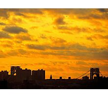 Sky over Washington Bridge, New York City  Photographic Print