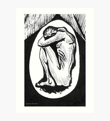 The Nightmare or Crouching Male Figure Art Print