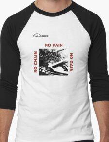 Cycling T Shirt - No Chain - No Pain - No Gain Men's Baseball ¾ T-Shirt