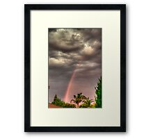 before the storm front hits Framed Print