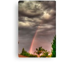 before the storm front hits Canvas Print