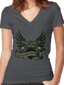 Pistol is Prime Redux Women's Fitted V-Neck T-Shirt