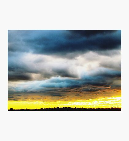 Rolling clouds, New York City Photographic Print