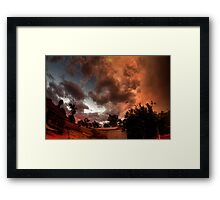 turning nasty at sunset Framed Print