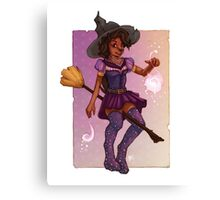 Socks the Witch Canvas Print