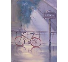bicyclette sous la pluie (bicycle in the rain) Photographic Print