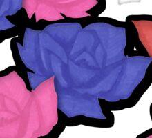 Romantic dark roses Sticker