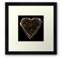 Solitary Steampunk Heart Framed Print