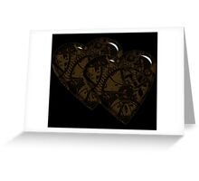 Steampunk Hearts II Greeting Card