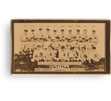 Benjamin K Edwards Collection New York Yankees baseball card portrait Canvas Print