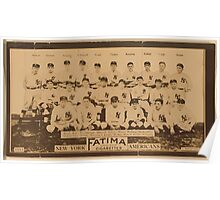 Benjamin K Edwards Collection New York Yankees baseball card portrait Poster
