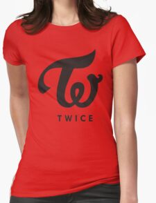 TWICE BLACK Womens Fitted T-Shirt