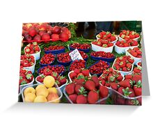 Strawberries at Campo de Fiori Greeting Card