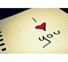 I (heart) You Photographic Print