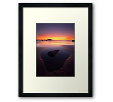 Sunset Pool Framed Print