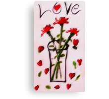 Love and Roses, watercolor Canvas Print