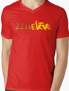 221BELIEVE Mens V-Neck T-Shirt