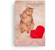 Luv you Like Crazy Canvas Print