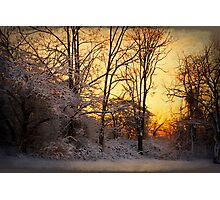 Once Upon a Winter Morning.. Photographic Print