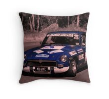 MG B GT - 1973 Throw Pillow