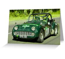 Triumph TR3 A 1959 Greeting Card
