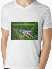 Tipsoo Lake Washington Mens V-Neck T-Shirt