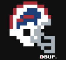 Tecmo Bowl -  Buffalo - 8-bit - Current Helmet shirt (RED HELMET available on Etsy -- see notes) One Piece - Short Sleeve